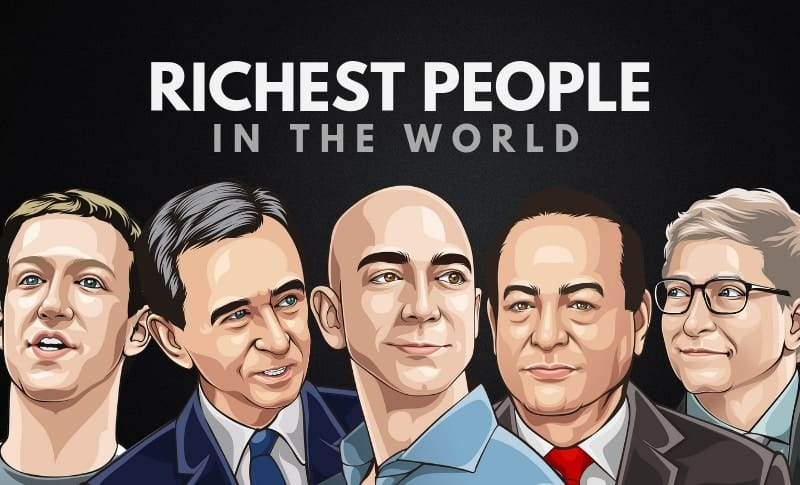 The 5  Wealthiest People  In The World